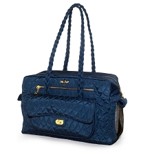 Porsha Quilted Dog Carrier- Navy