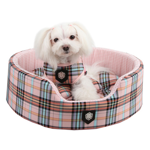 Clic Preppy Dog Bed Pink