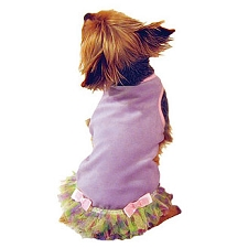 Princess Lilac Ruffle Tutu Dog Dress