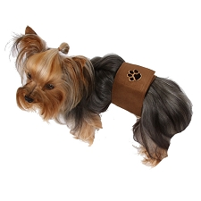 Brown Pawprint Wizzer Bellyband by Susan Lanci