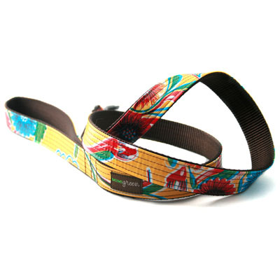 Mimi Green Que Chula Oilcloth Dog Leash At Glamourmutt Com