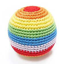 Rainbow Ball Cotton Knit Dental Dog Toy