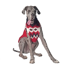 Red Fairisle Wool Dog Sweater