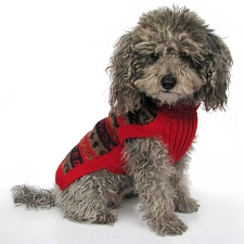 Red Splendor Alpaca Dog Sweater