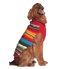 Red Sundance Dog Sweater by Chilly Dog