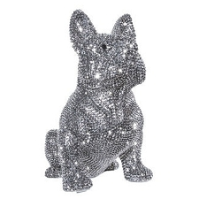 Rhinestone French Bulldog Sculpture