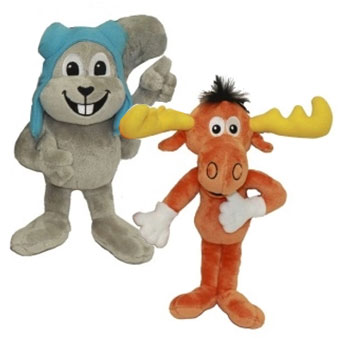 Rocky Amp Bullwinkle Dog Toys At Glamour Mutt