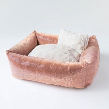 Rosé All Day Crystal Luxury Dog Bed