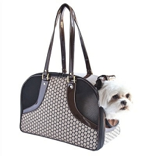 Roxy Dog Carrier by PETote - Noir Dots