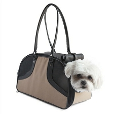 Roxy Dog Carrier by PETote - Tan and Black