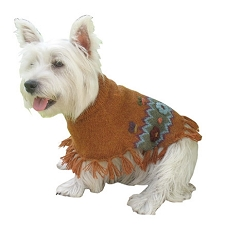 Royal Handknit Alpaca Dog Sweater Poncho