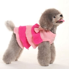 Ruffle Tiered Sweater Dog Dress
