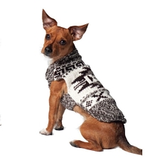 Rustic Aztec Wool Dog Sweater