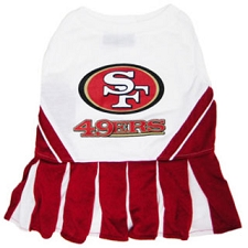 San Francisco 49ers Cheerleader Dog Dress