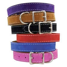 Saratoga Suede Nubuck Leather Collars - Six Colors