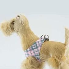 Scotty Plaid Simplicity Step-In Harness- Puppy Pink