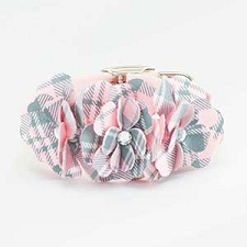 Scotty Plaid Tinkies Garden Collar- Puppy Pink