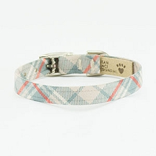 Scotty Plaid Ultrasuede Collar- Doe