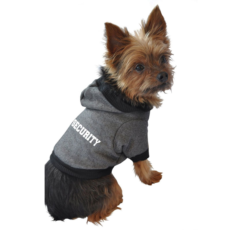 Security Dog Hoodie Clothes For Dogs At Glamourmutt