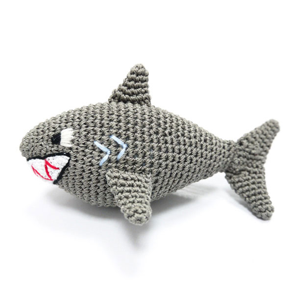 Shark Attack Cotton Knit Dog Toy -Glamour Mutt