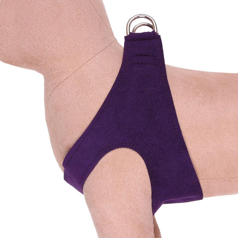 Susan Lanci Ultrasuede Step In Harness Amethyst Dog
