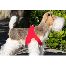 Simplicity Ultrasuede Step-In Dog Harness- Red
