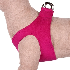 Simplicity Ultrasuede Step-In Dog Harness- Wine n Roses