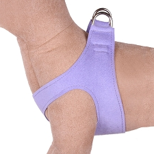 Simplicity Ultrasuede Step-In Dog Harness- French Lavender