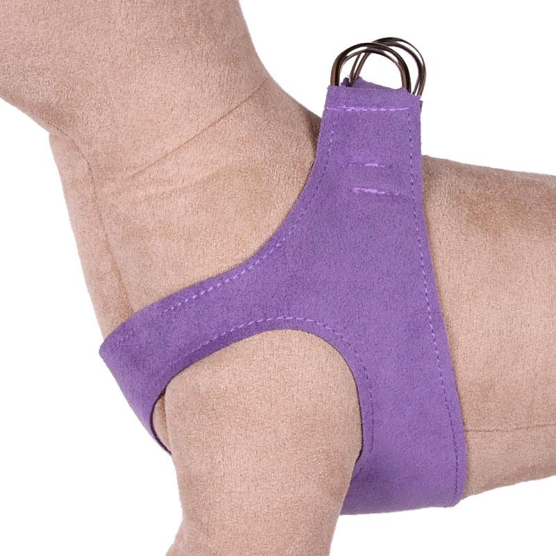 Susan Lanci Step-In Dog Harness- Ultraviolet   Ultrasuede Harnesses