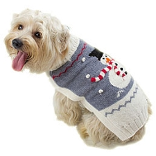 Snowman Alpaca Dog Sweater by Alqo Wasi