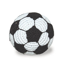 Soccer Ball Cotton Knit Dog Toy