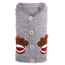 Sock Monkey Cardigan