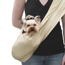 Susan Lanci Dog Carrier Sporty Sling - Beige