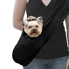 Susan Lanci Dog Carrier Sporty Sling - Black