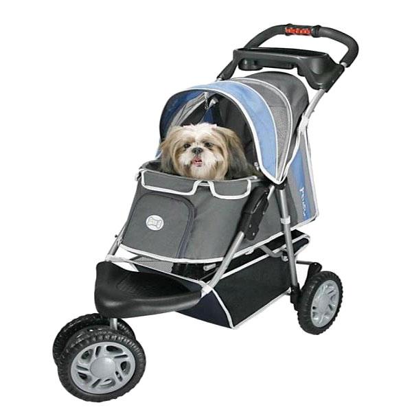 Dog Stroller Sporty 3 Wheeled Blue Dog Strollers At