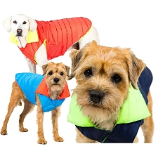 Sporty Down Puffer Dog Coat by Canine Styles