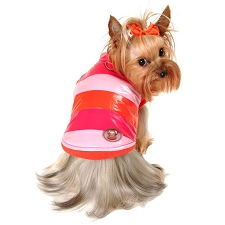 Sporty Rainbow Dog Jacket - Hot Pink