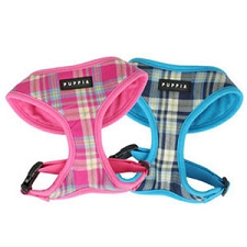 Spring Plaid Dog Harness - Pink and Blue