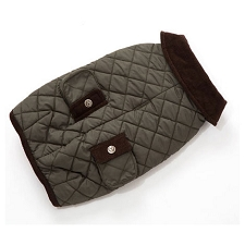 Stefan Barn Dog Coat- Loden