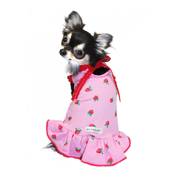 sc 1 st  Glamour Mutt & Strawberry Shortcake Pink Dog Dress | Dog Clothes at GlamourMutt.com