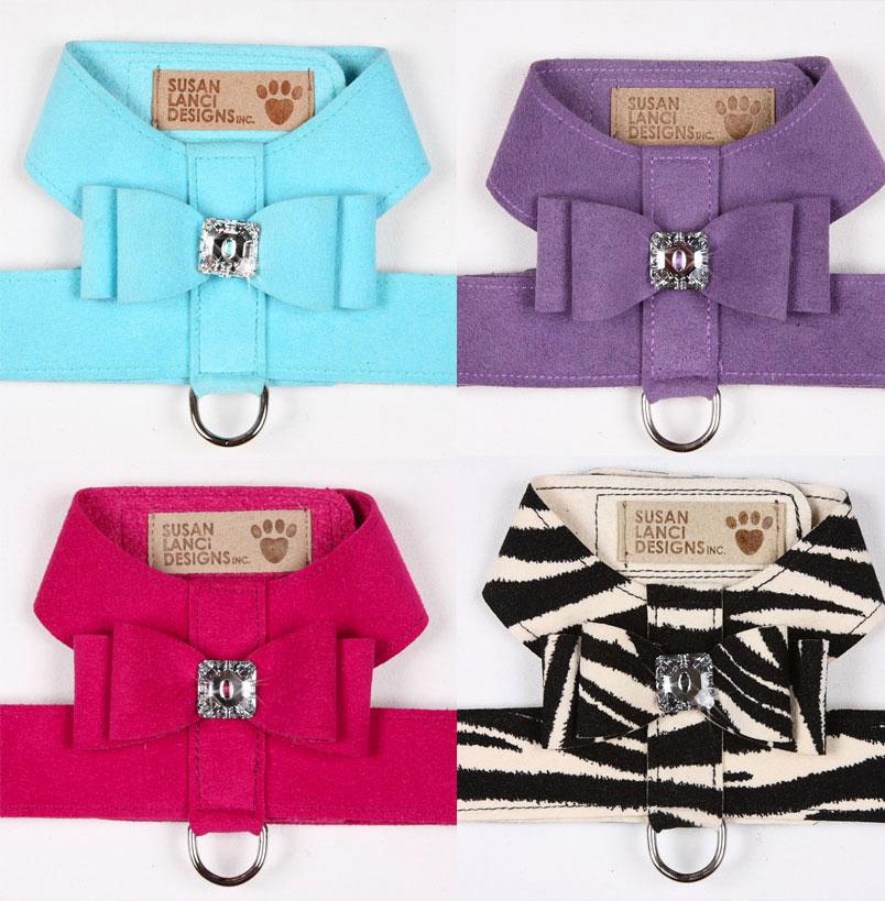 susan lanci big bow dog harness 5 big bow ultrasuede dog harness by susan lanci glamour mutt