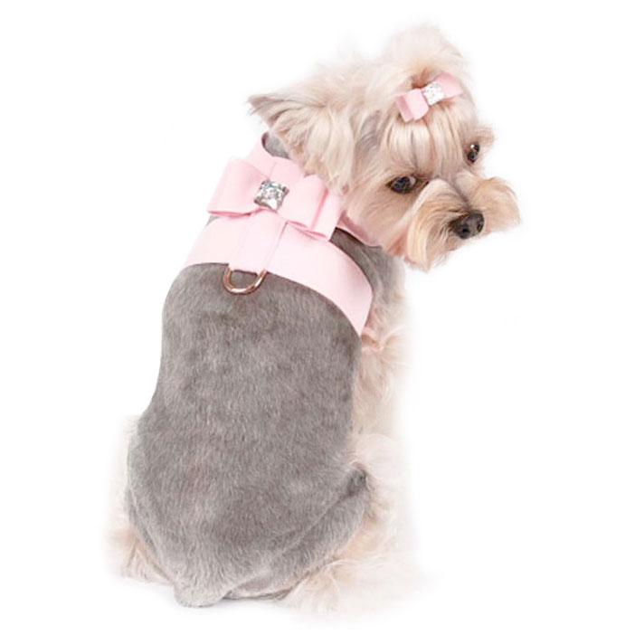 susan lanci big bow dog harness 9 big bow ultrasuede dog harness by susan lanci glamour mutt