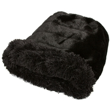 Cuddle Cup Dog Bed - Black Shag