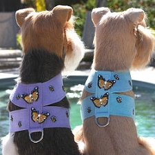 Butterfly Swarovski Crystal Dog Harness - 20 Colors