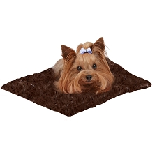 Susan Lanci Dog Carrier Blanket - Dark Chocolate