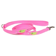 Embroidered Alligators Swarovski Crystal Dog Leash - 20 Colors
