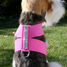 Crystal Rocks Ultrasuede Dog Harness - 20 Colors