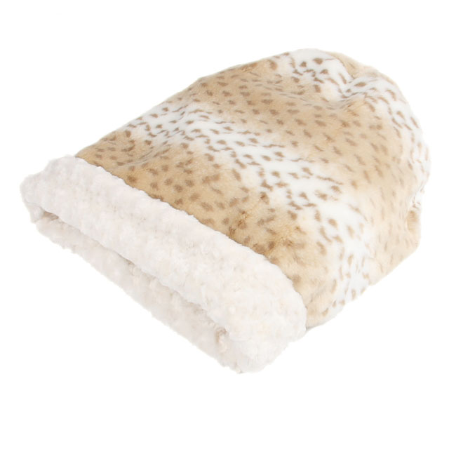cuddle cup dog bed in cream lynx by susan lanci