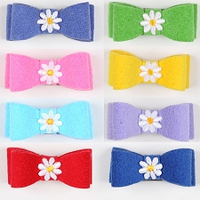 Daisy Ultrasuede Hair Bow- 20 Colors