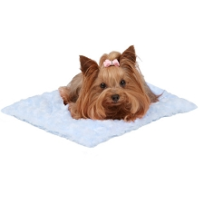 Susan Lanci Dog Carrier Blanket - Puppy Blue
